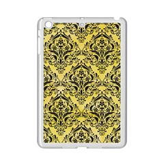 Damask1 Black Marble & Yellow Watercolor Ipad Mini 2 Enamel Coated Cases