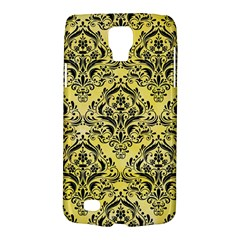 Damask1 Black Marble & Yellow Watercolor Galaxy S4 Active