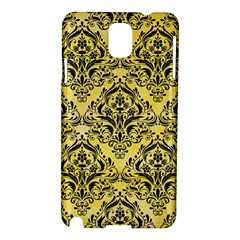 Damask1 Black Marble & Yellow Watercolor Samsung Galaxy Note 3 N9005 Hardshell Case