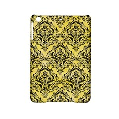 Damask1 Black Marble & Yellow Watercolor Ipad Mini 2 Hardshell Cases