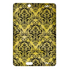 Damask1 Black Marble & Yellow Watercolor Amazon Kindle Fire Hd (2013) Hardshell Case