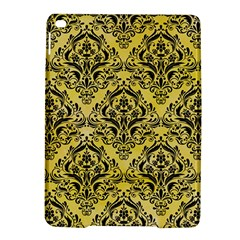 Damask1 Black Marble & Yellow Watercolor Ipad Air 2 Hardshell Cases