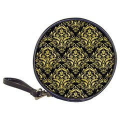Damask1 Black Marble & Yellow Watercolor (r) Classic 20 Cd Wallets