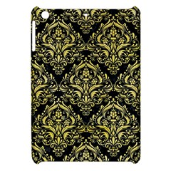 Damask1 Black Marble & Yellow Watercolor (r) Apple Ipad Mini Hardshell Case