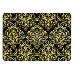 Damask1 Black Marble & Yellow Watercolor (r) Samsung Galaxy Tab 8 9  P7300 Flip Case