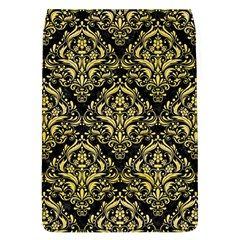 Damask1 Black Marble & Yellow Watercolor (r) Flap Covers (l)