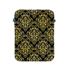Damask1 Black Marble & Yellow Watercolor (r) Apple Ipad 2/3/4 Protective Soft Cases