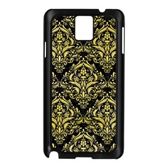 Damask1 Black Marble & Yellow Watercolor (r) Samsung Galaxy Note 3 N9005 Case (black)