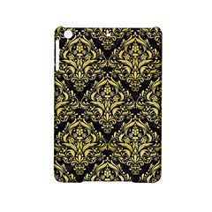 Damask1 Black Marble & Yellow Watercolor (r) Ipad Mini 2 Hardshell Cases