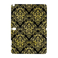 Damask1 Black Marble & Yellow Watercolor (r) Galaxy Note 1