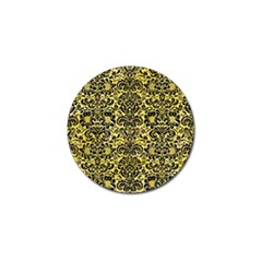 Damask2 Black Marble & Yellow Watercolor Golf Ball Marker (10 Pack)
