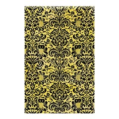 Damask2 Black Marble & Yellow Watercolor Shower Curtain 48  X 72  (small)