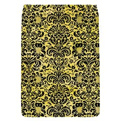 Damask2 Black Marble & Yellow Watercolor Flap Covers (s)