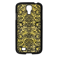 Damask2 Black Marble & Yellow Watercolor Samsung Galaxy S4 I9500/ I9505 Case (black)