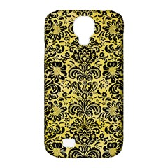 Damask2 Black Marble & Yellow Watercolor Samsung Galaxy S4 Classic Hardshell Case (pc+silicone)