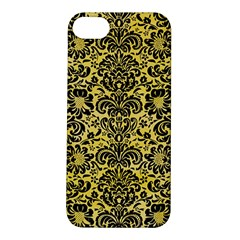 Damask2 Black Marble & Yellow Watercolor Apple Iphone 5s/ Se Hardshell Case