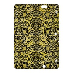 Damask2 Black Marble & Yellow Watercolor Kindle Fire Hdx 8 9  Hardshell Case