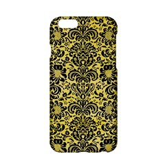Damask2 Black Marble & Yellow Watercolor Apple Iphone 6/6s Hardshell Case