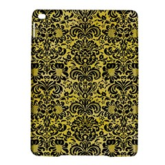 Damask2 Black Marble & Yellow Watercolor Ipad Air 2 Hardshell Cases