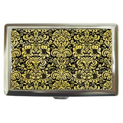 Damask2 Black Marble & Yellow Watercolor (r) Cigarette Money Cases