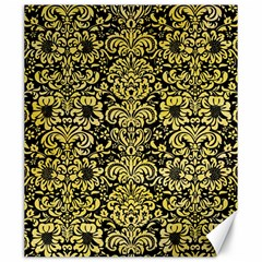 Damask2 Black Marble & Yellow Watercolor (r) Canvas 20  X 24