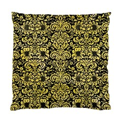 Damask2 Black Marble & Yellow Watercolor (r) Standard Cushion Case (two Sides)