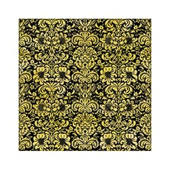 Damask2 Black Marble & Yellow Watercolor (r) Acrylic Tangram Puzzle (6  X 6 )