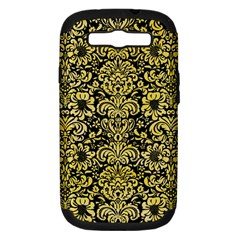 Damask2 Black Marble & Yellow Watercolor (r) Samsung Galaxy S Iii Hardshell Case (pc+silicone)