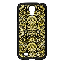 Damask2 Black Marble & Yellow Watercolor (r) Samsung Galaxy S4 I9500/ I9505 Case (black)