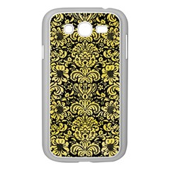 Damask2 Black Marble & Yellow Watercolor (r) Samsung Galaxy Grand Duos I9082 Case (white)