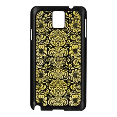 Damask2 Black Marble & Yellow Watercolor (r) Samsung Galaxy Note 3 N9005 Case (black)