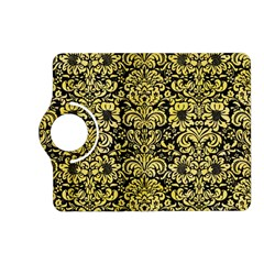 Damask2 Black Marble & Yellow Watercolor (r) Kindle Fire Hd (2013) Flip 360 Case