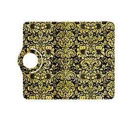 Damask2 Black Marble & Yellow Watercolor (r) Kindle Fire Hdx 8 9  Flip 360 Case