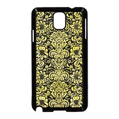 Damask2 Black Marble & Yellow Watercolor (r) Samsung Galaxy Note 3 Neo Hardshell Case (black)