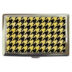 Houndstooth1 Black Marble & Yellow Watercolor Cigarette Money Cases