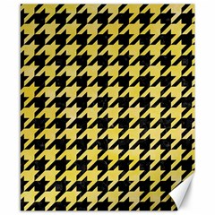 Houndstooth1 Black Marble & Yellow Watercolor Canvas 8  X 10