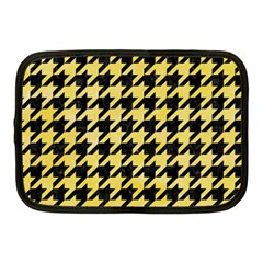 Houndstooth1 Black Marble & Yellow Watercolor Netbook Case (medium)