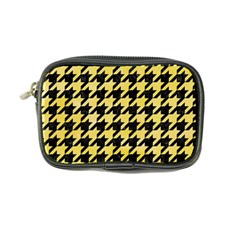 Houndstooth1 Black Marble & Yellow Watercolor Coin Purse