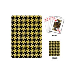 Houndstooth1 Black Marble & Yellow Watercolor Playing Cards (mini)