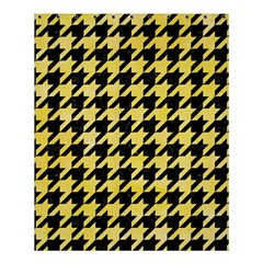 Houndstooth1 Black Marble & Yellow Watercolor Shower Curtain 60  X 72  (medium)
