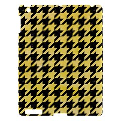 Houndstooth1 Black Marble & Yellow Watercolor Apple Ipad 3/4 Hardshell Case