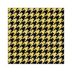 Houndstooth1 Black Marble & Yellow Watercolor Acrylic Tangram Puzzle (6  X 6 )