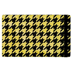 Houndstooth1 Black Marble & Yellow Watercolor Apple Ipad 2 Flip Case