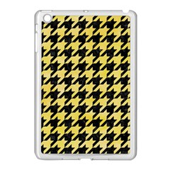 Houndstooth1 Black Marble & Yellow Watercolor Apple Ipad Mini Case (white)