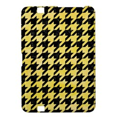 Houndstooth1 Black Marble & Yellow Watercolor Kindle Fire Hd 8 9