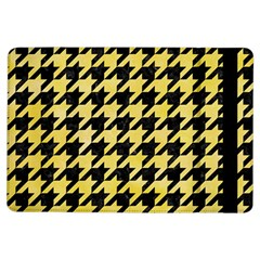 Houndstooth1 Black Marble & Yellow Watercolor Ipad Air Flip