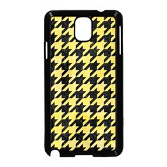 Houndstooth1 Black Marble & Yellow Watercolor Samsung Galaxy Note 3 Neo Hardshell Case (black)