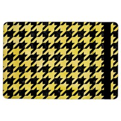 Houndstooth1 Black Marble & Yellow Watercolor Ipad Air 2 Flip
