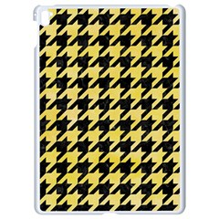 Houndstooth1 Black Marble & Yellow Watercolor Apple Ipad Pro 9 7   White Seamless Case
