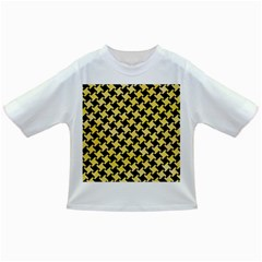 Houndstooth2 Black Marble & Yellow Watercolor Infant/toddler T Shirts